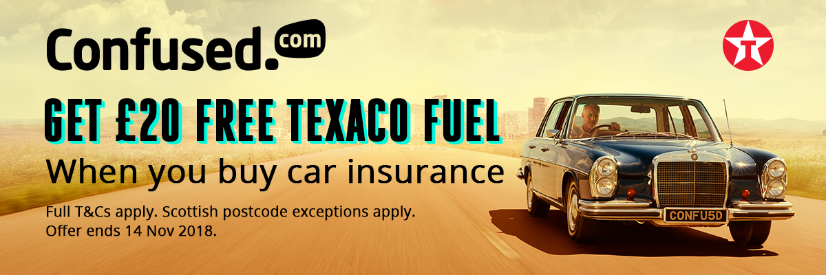 £20 free Texaco Fuel with Confused.com